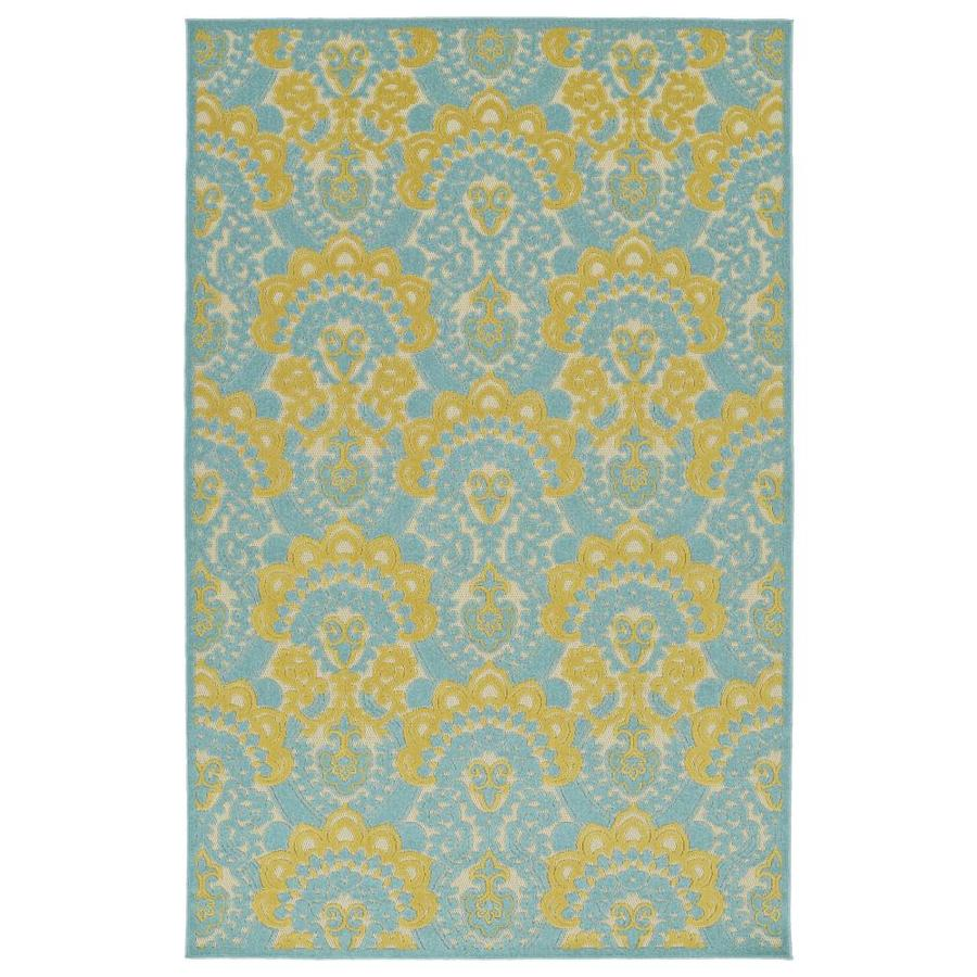 Kaleen A Breath of Fresh Air Gold Indoor/Outdoor Novelty Throw Rug (Common: 2 x 4; Actual: 2.08-ft W x 4-ft L)