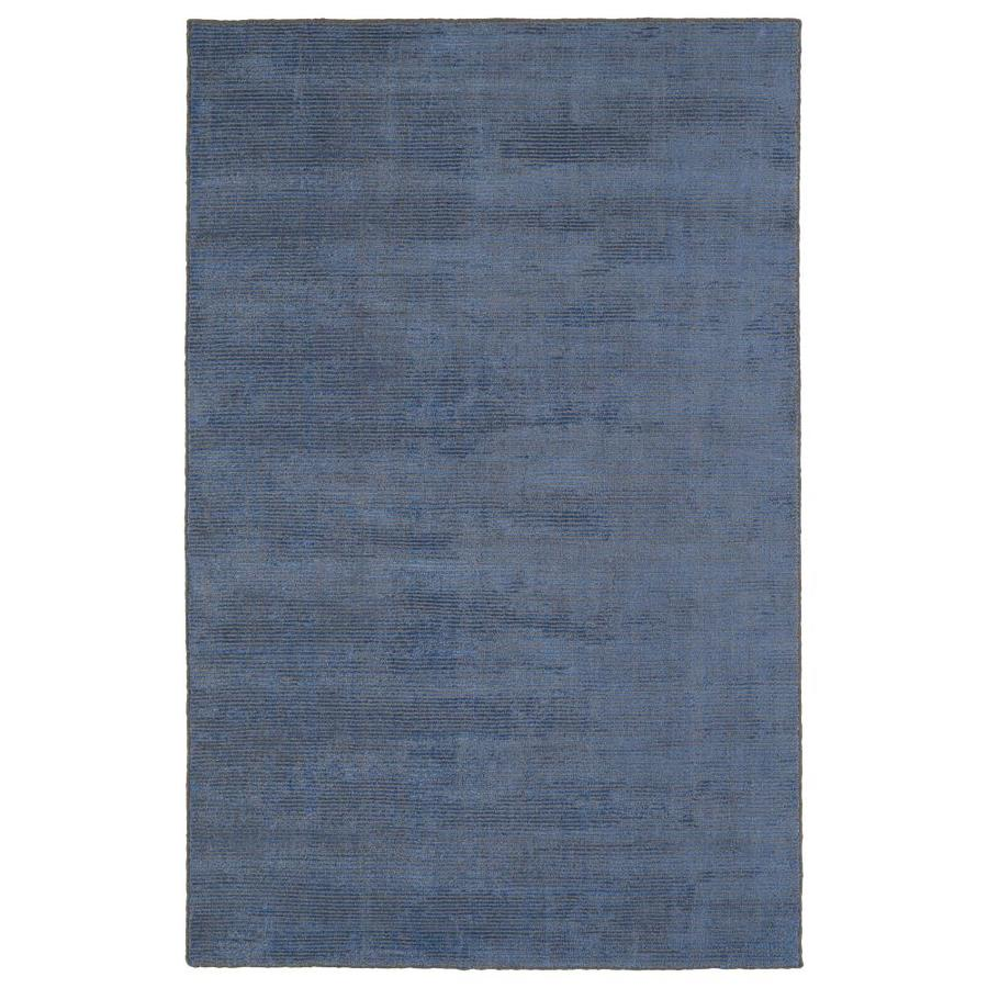 Kaleen Luminary Blue Rectangular Indoor Handcrafted Novelty Area Rug (Common: 5 x 8; Actual: 5-ft W x 7.75-ft L)