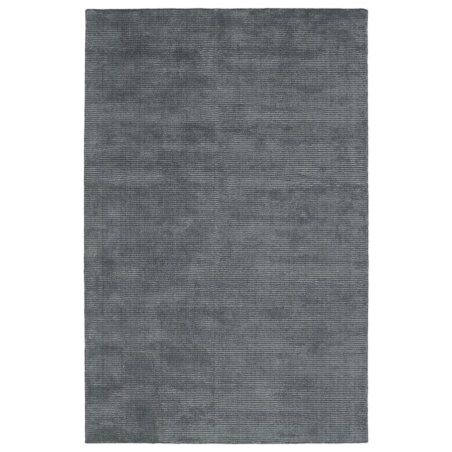 Kaleen Luminary Carbon Rectangular Indoor Handcrafted Novelty Throw Rug (Common: 3 x 5; Actual: 3-ft W x 5-ft L)