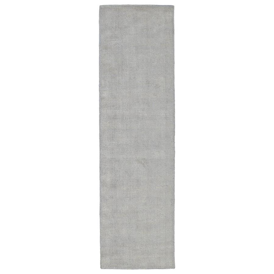 Kaleen Luminary Grey Rectangular Indoor Handcrafted Novelty Runner (Common: 2 x 8; Actual: 2.25-ft W x 8-ft L)