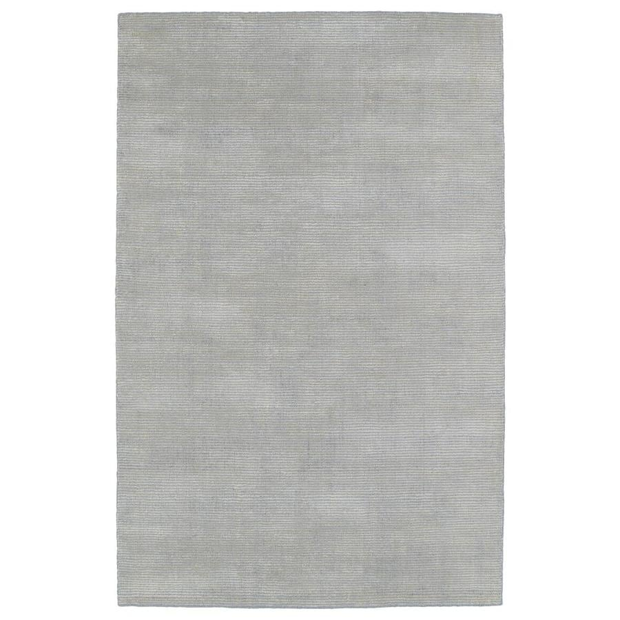 Kaleen Luminary Grey Rectangular Indoor Handcrafted Novelty Area Rug (Common: 5 x 8; Actual: 5-ft W x 7.75-ft L)