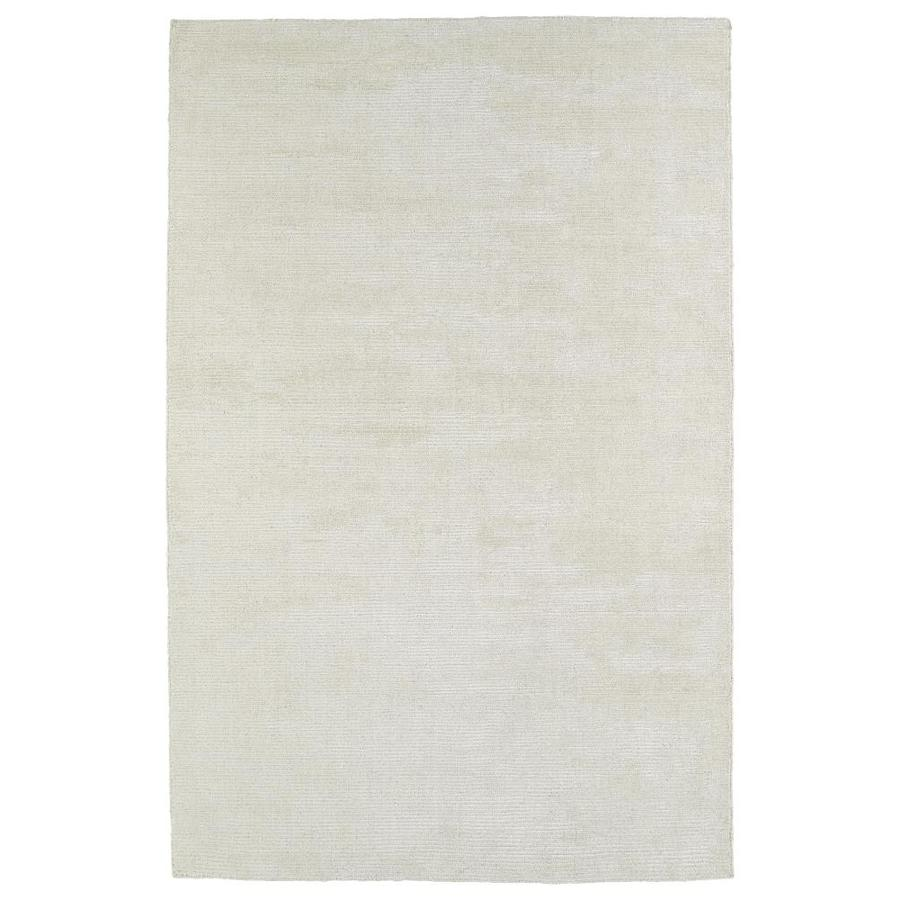 Kaleen Luminary Cream Rectangular Indoor Handcrafted Novelty Area Rug (Common: 8 x 10; Actual: 8-ft W x 10-ft L)