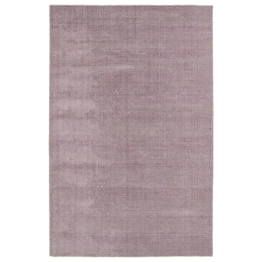 Kaleen Luminary Lilac Rectangular Indoor Handcrafted Novelty Throw Rug (Common: 3 x 5; Actual: 3-ft W x 5-ft L)