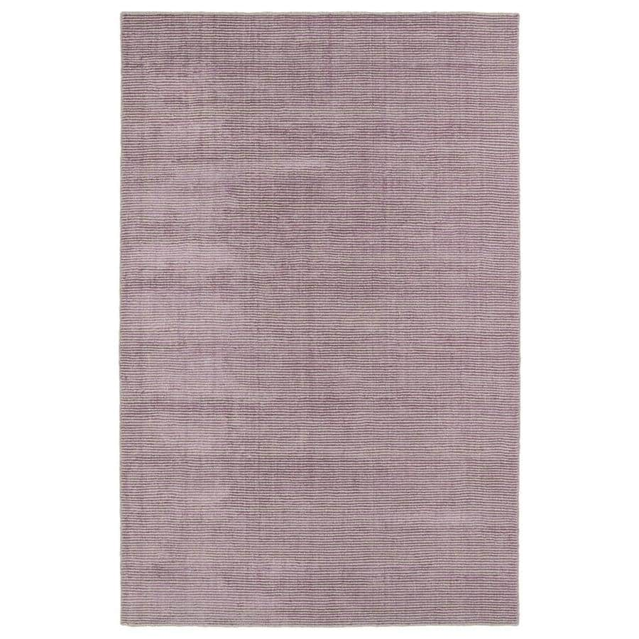 Kaleen Luminary Lilac Indoor Handcrafted Novelty Area Rug (Common: 5 x 8; Actual: 5-ft W x 7.75-ft L)