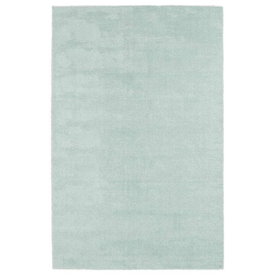 Kaleen Luminary Mint Rectangular Indoor Handcrafted Novelty Area Rug (Common: 5 x 8; Actual: 5-ft W x 7.75-ft L)