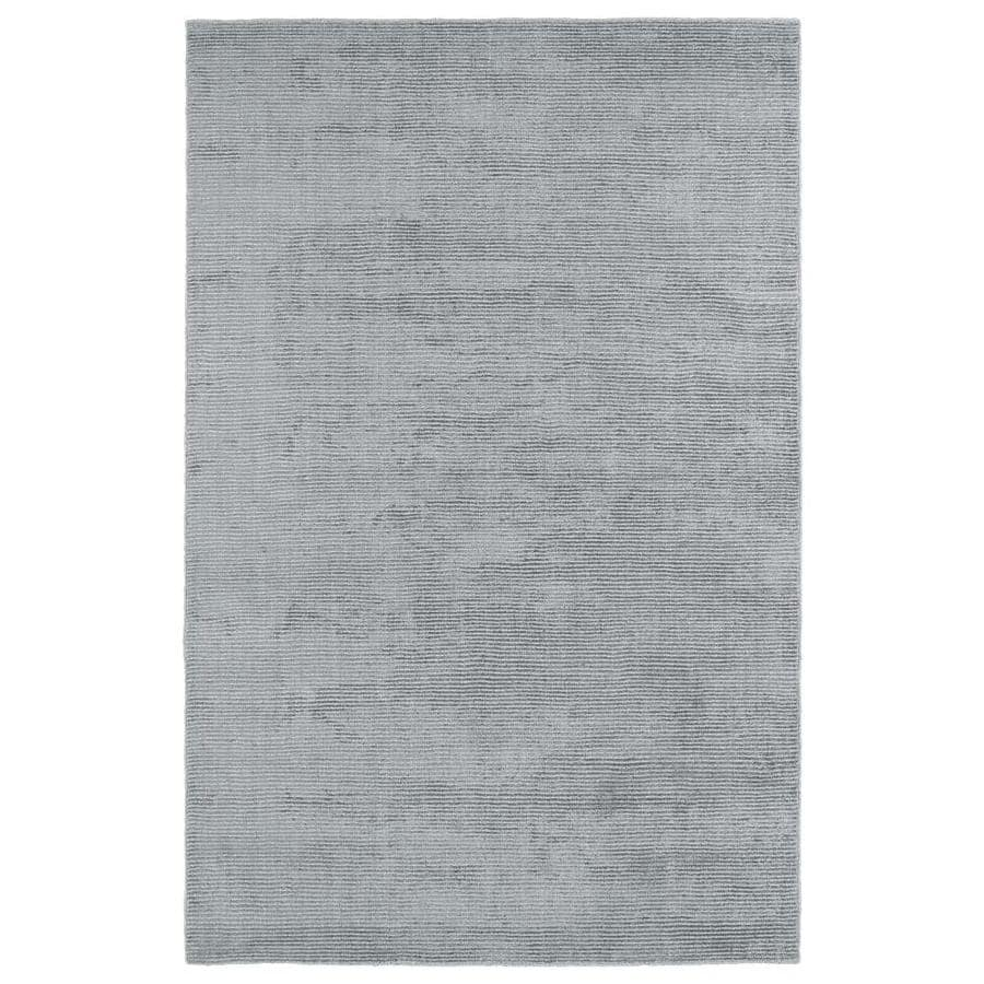 Kaleen Luminary Silver Rectangular Indoor Handcrafted Novelty Area Rug (Common: 5 x 8; Actual: 5-ft W x 7.75-ft L)