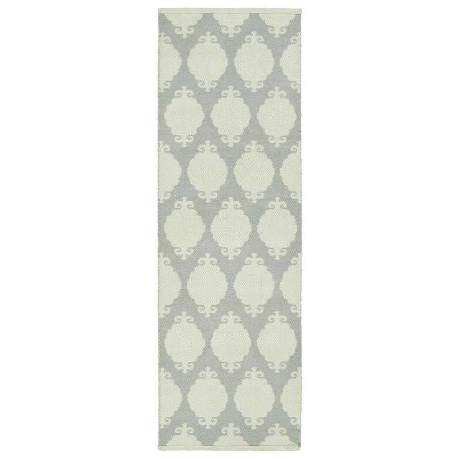 Kaleen Brisa Grey Rectangular Indoor/Outdoor Handcrafted Coastal Runner (Common: 2 x 6; Actual: 2-ft W x 6-ft L)