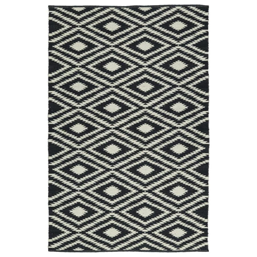 Kaleen Brisa Black Indoor/Outdoor Handcrafted Coastal Throw Rug (Common: 3 x 5; Actual: 3-ft W x 5-ft L)