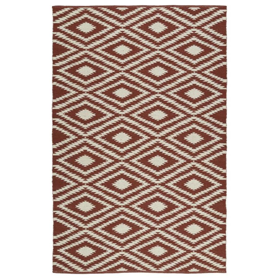 Kaleen Brisa Brick Indoor/Outdoor Handcrafted Coastal Area Rug (Common: 9 x 12; Actual: 9-ft W x 12-ft L)