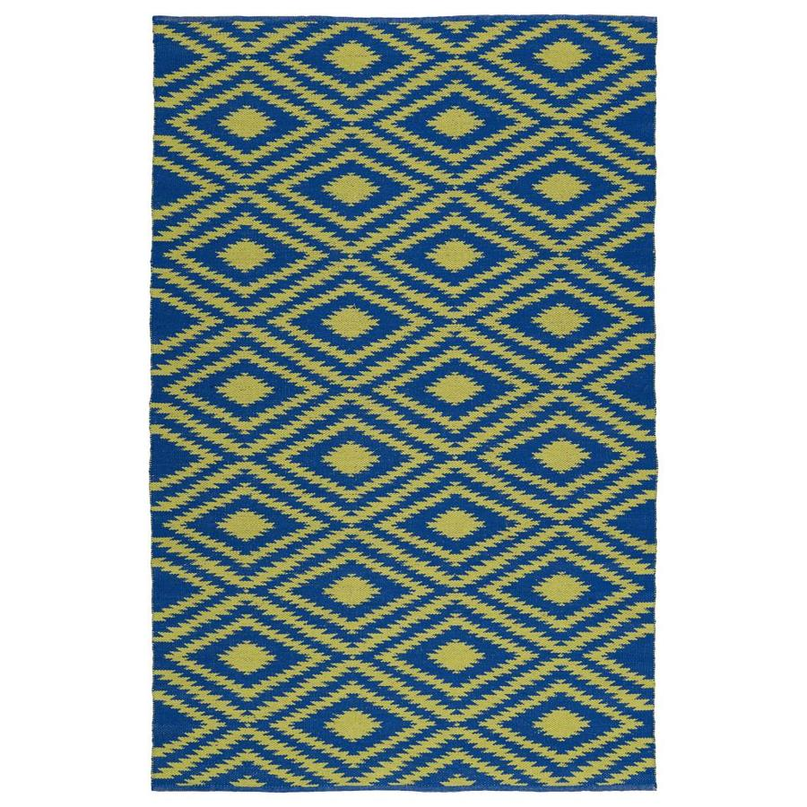 Kaleen Brisa Navy Indoor/Outdoor Handcrafted Coastal Area Rug (Common: 5 x 8; Actual: 5-ft W x 7.5-ft L)
