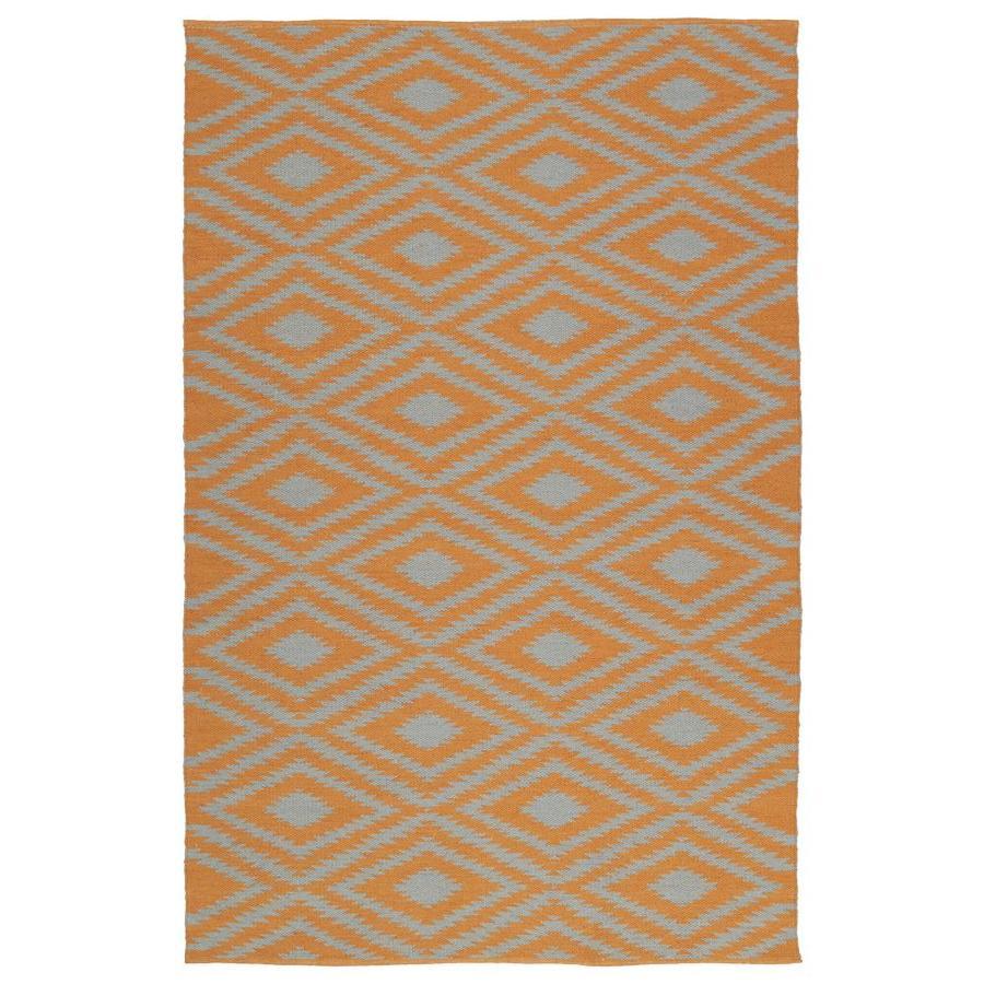 Kaleen Brisa Orange Rectangular Indoor/Outdoor Handcrafted Coastal Throw Rug (Common: 2 x 3; Actual: 2-ft W x 3-ft L)