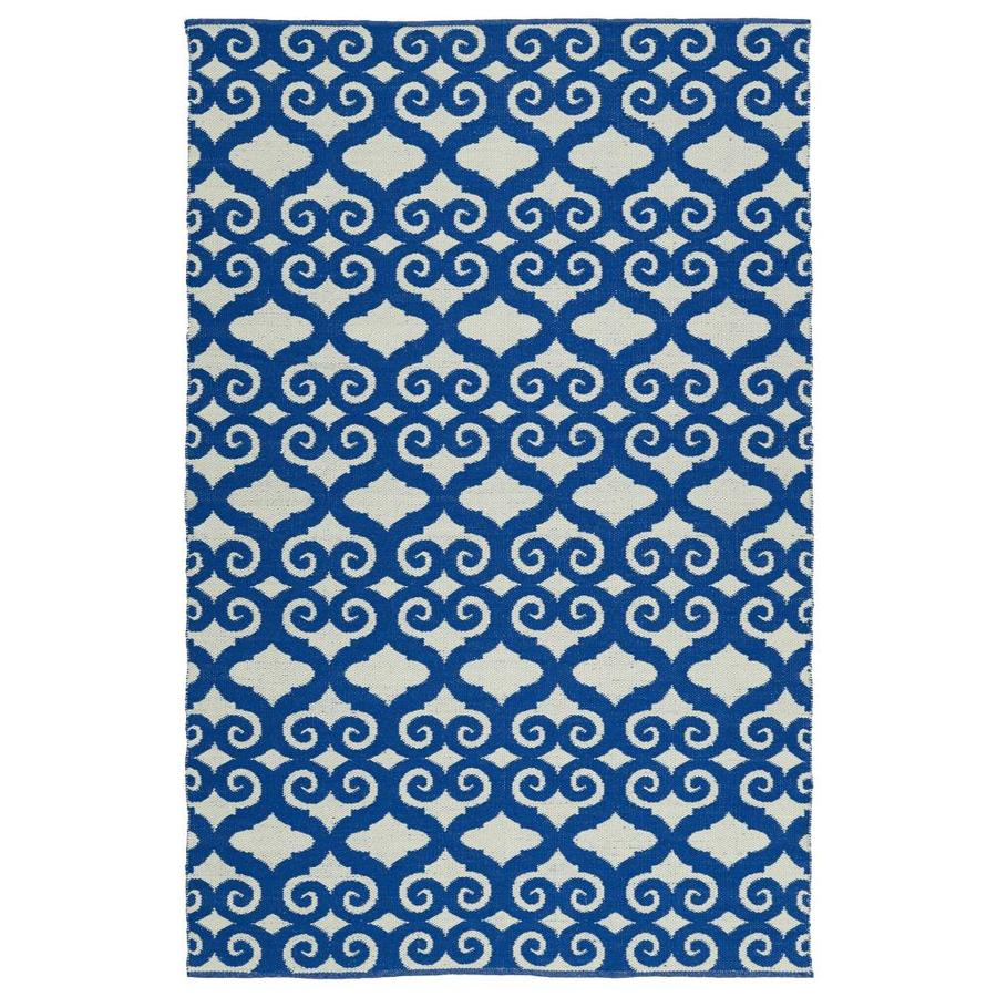 Kaleen Brisa Navy Indoor/Outdoor Handcrafted Coastal Throw Rug (Common: 2 x 3; Actual: 2-ft W x 3-ft L)