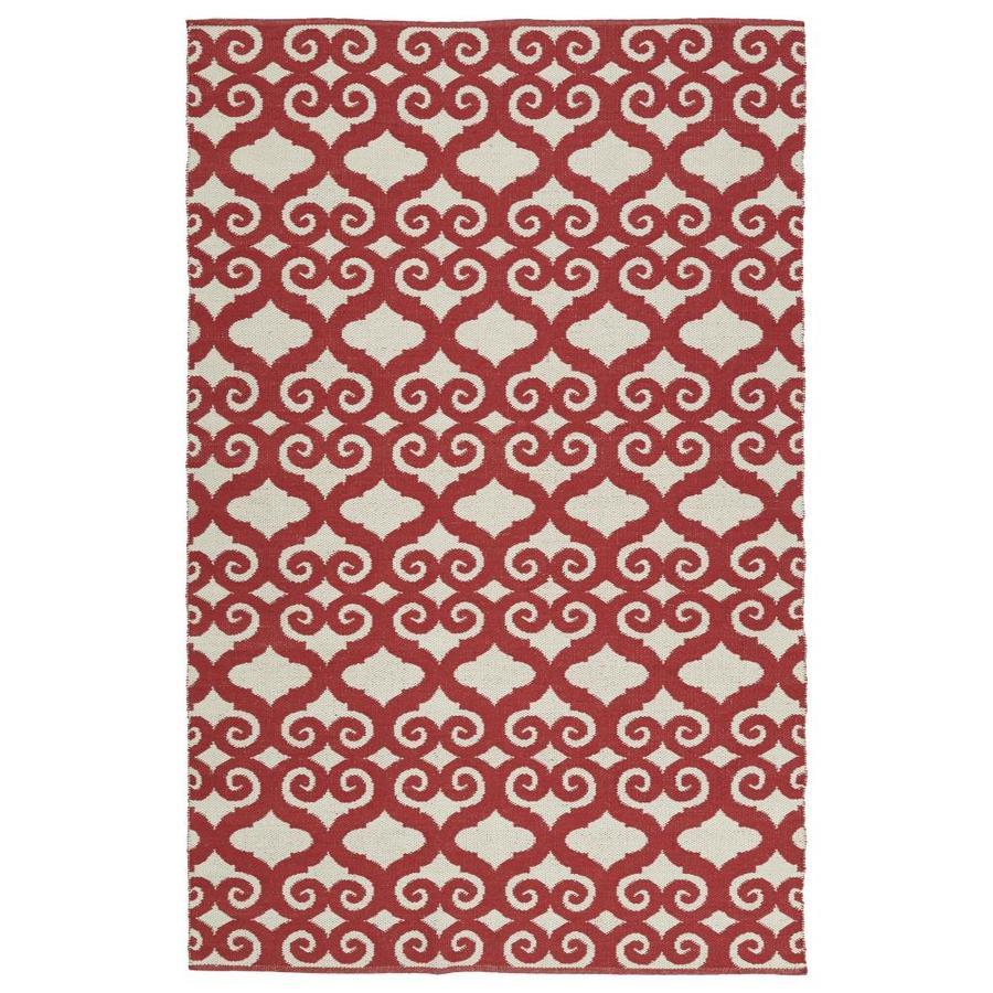 Kaleen Brisa Red Rectangular Indoor/Outdoor Handcrafted Coastal Throw Rug (Common: 2 x 3; Actual: 2-ft W x 3-ft L)