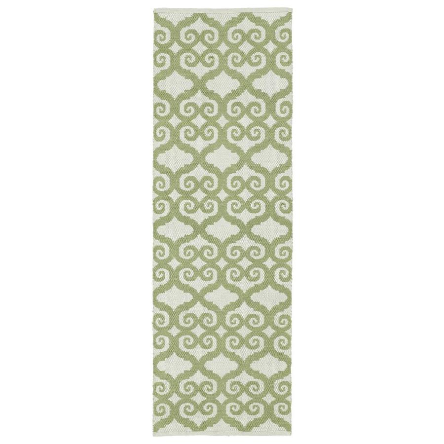 Kaleen Brisa Green Rectangular Indoor/Outdoor Handcrafted Coastal Runner (Common: 2 x 6; Actual: 2-ft W x 6-ft L)