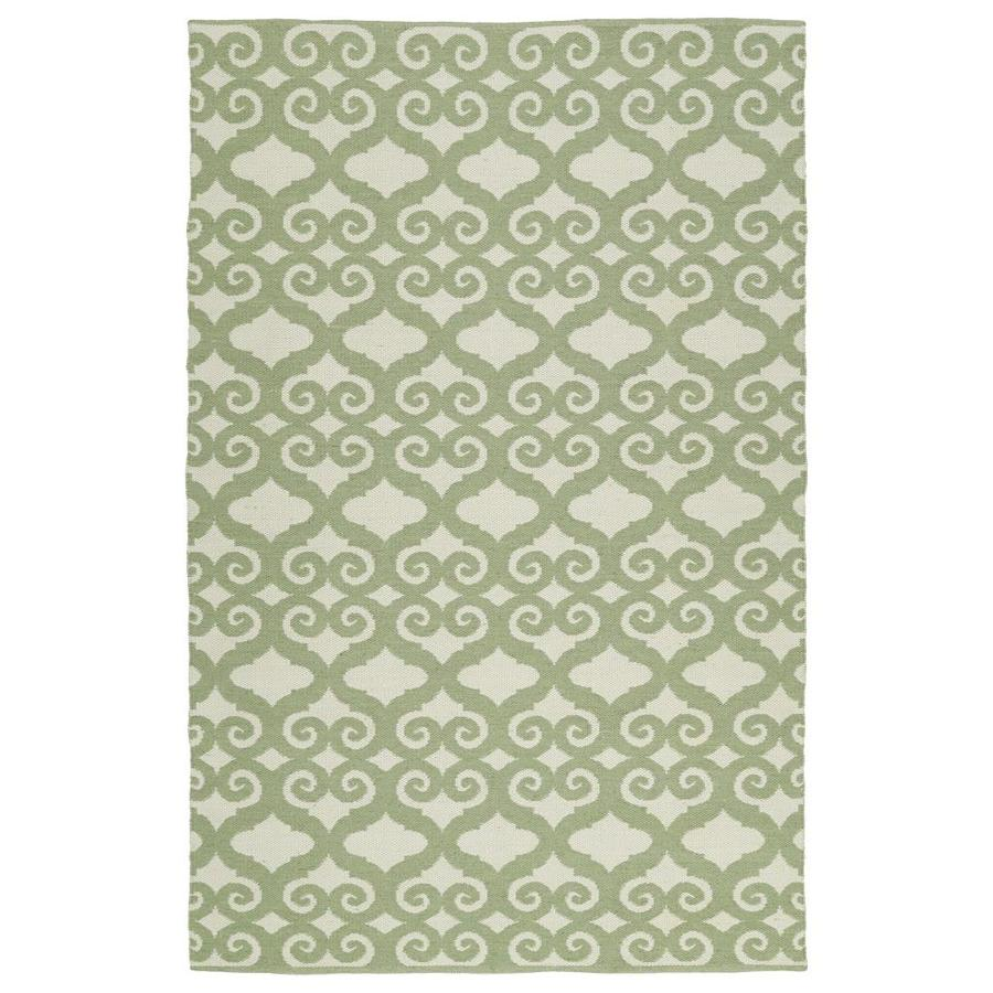 Kaleen Brisa Green Indoor/Outdoor Handcrafted Coastal Area Rug (Common: 5 x 8; Actual: 5-ft W x 7.5-ft L)