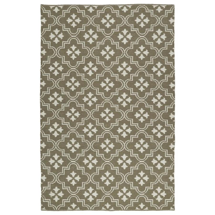 Kaleen Brisa Taupe Indoor/Outdoor Handcrafted Coastal Area Rug (Common: 8 x 10; Actual: 8-ft W x 10-ft L)