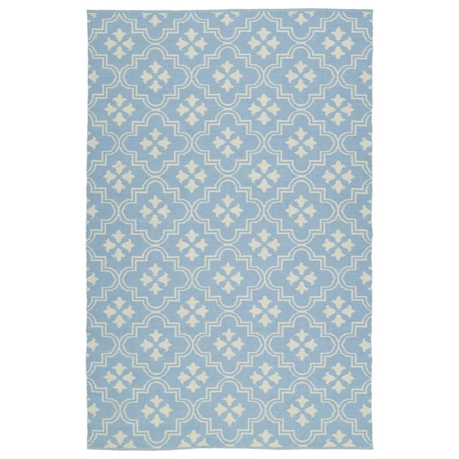 Kaleen Brisa Light Blue Rectangular Indoor/Outdoor Handcrafted Coastal Area Rug (Common: 8 x 10; Actual: 8-ft W x 10-ft L)