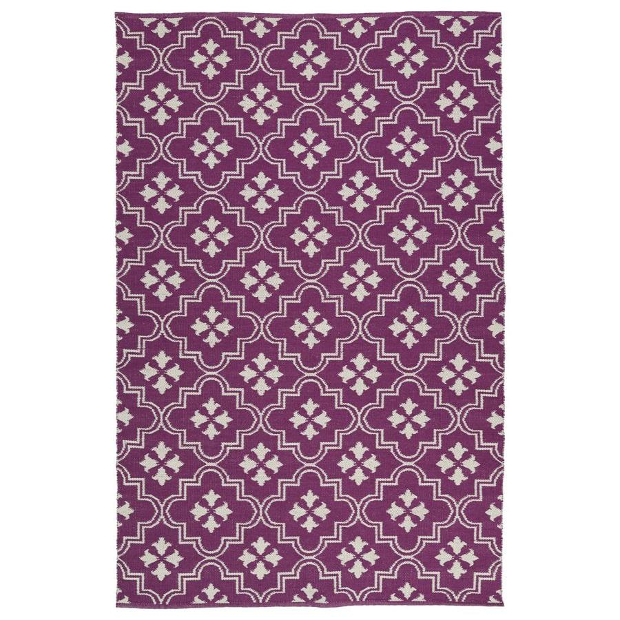 Kaleen Brisa Purple Indoor/Outdoor Handcrafted Coastal Throw Rug (Common: 2 x 3; Actual: 2-ft W x 3-ft L)