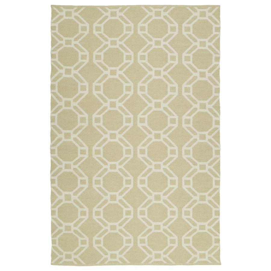 Kaleen Brisa Khaki Indoor/Outdoor Handcrafted Coastal Throw Rug (Common: 3 x 5; Actual: 3-ft W x 5-ft L)