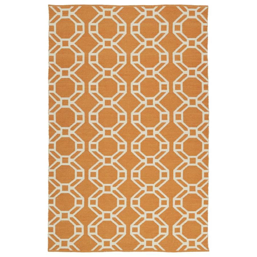 Kaleen Brisa Orange Indoor/Outdoor Handcrafted Coastal Area Rug (Common: 8 x 10; Actual: 8-ft W x 10-ft L)