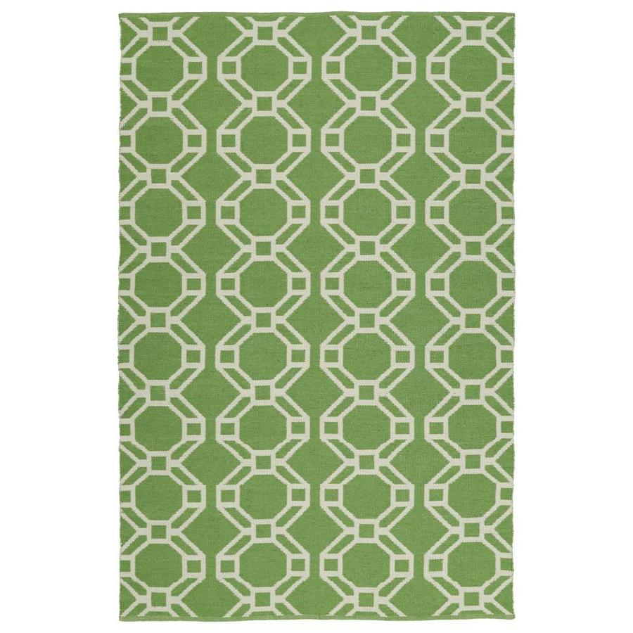 Kaleen Brisa Lime Green Indoor/Outdoor Handcrafted Coastal Throw Rug (Common: 2 x 3; Actual: 2-ft W x 3-ft L)