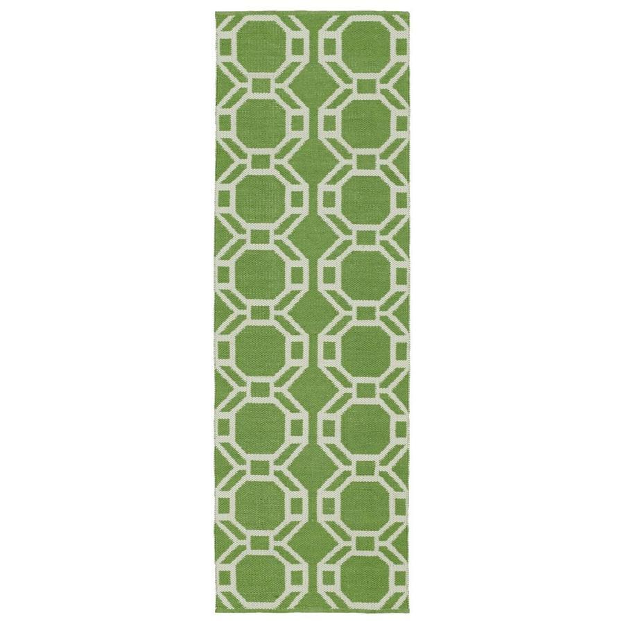 Kaleen Brisa Lime Green Rectangular Indoor/Outdoor Handcrafted Coastal Runner (Common: 2 x 6; Actual: 2-ft W x 6-ft L)