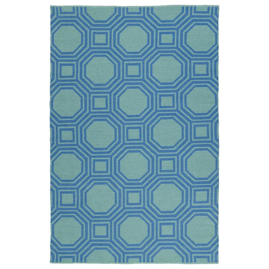 Kaleen Brisa Blue Indoor/Outdoor Handcrafted Coastal Area Rug (Common: 5 x 8; Actual: 5-ft W x 7.5-ft L)