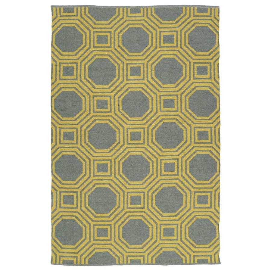 Kaleen Brisa Yellow Indoor/Outdoor Handcrafted Coastal Area Rug (Common: 5 x 8; Actual: 5-ft W x 7.5-ft L)