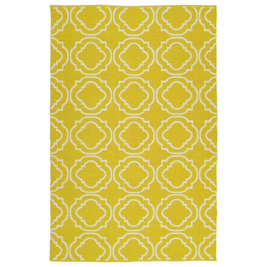 Kaleen Brisa Yellow Indoor/Outdoor Handcrafted Coastal Throw Rug (Common: 3 x 5; Actual: 3-ft W x 5-ft L)