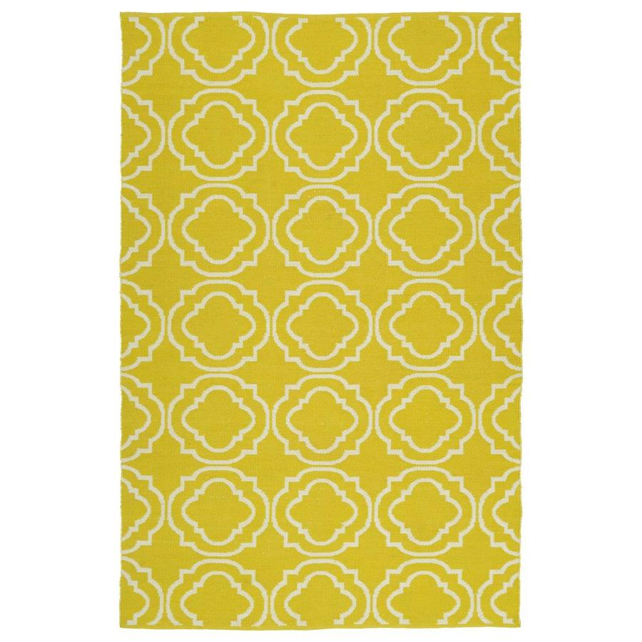 Kaleen Brisa Yellow Indoor/Outdoor Handcrafted Coastal Area Rug (Common: 9 x 12; Actual: 9-ft W x 12-ft L)