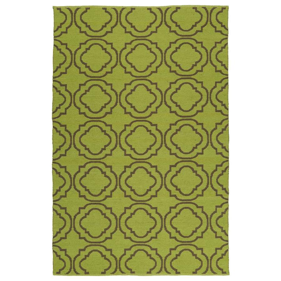 Kaleen Brisa Avocado Indoor/Outdoor Handcrafted Coastal Area Rug (Common: 5 x 8; Actual: 5-ft W x 7.5-ft L)