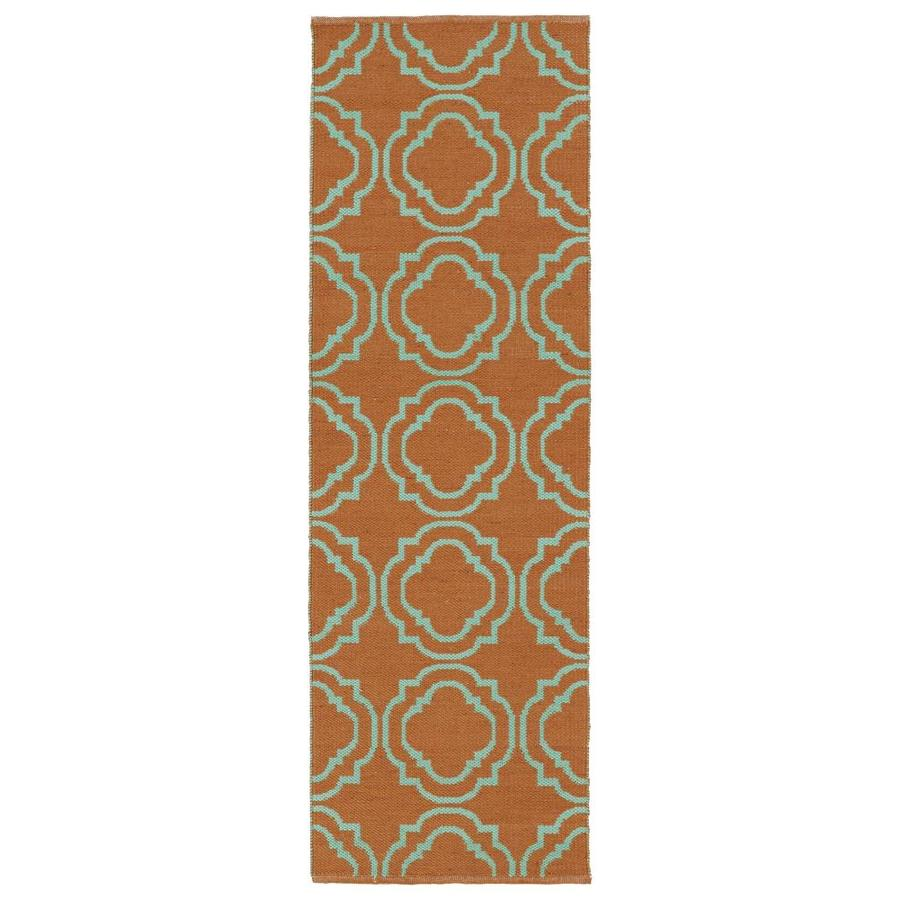 Kaleen Brisa Orange Rectangular Indoor/Outdoor Handcrafted Coastal Runner (Common: 2 x 6; Actual: 2-ft W x 6-ft L)