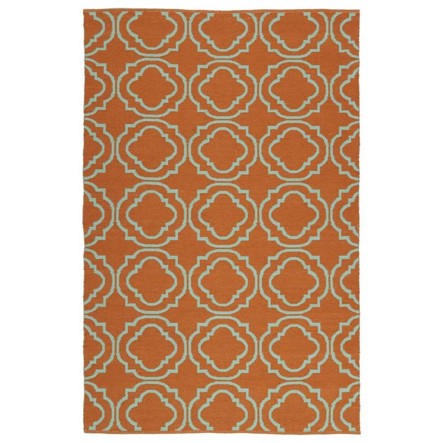 Kaleen Brisa Orange Indoor/Outdoor Handcrafted Coastal Throw Rug (Common: 3 x 5; Actual: 3-ft W x 5-ft L)