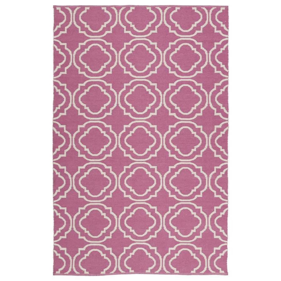 Kaleen Brisa Pink Indoor/Outdoor Handcrafted Coastal Area Rug (Common: 5 x 8; Actual: 5-ft W x 7.5-ft L)