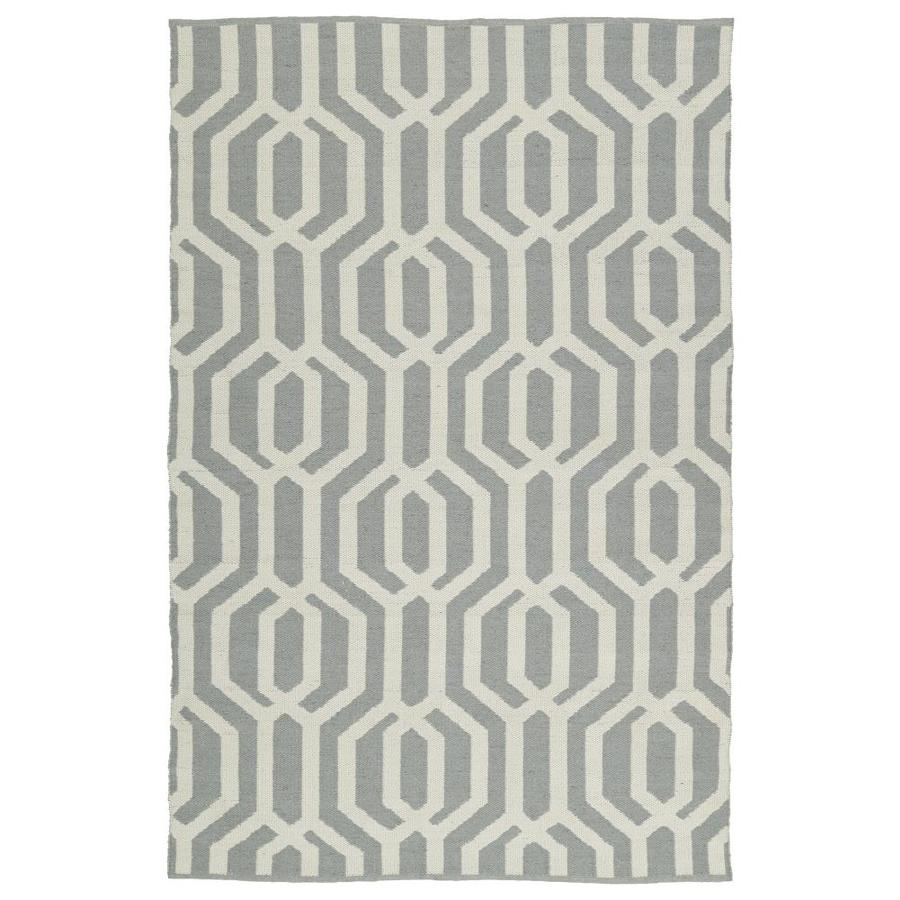 Kaleen Brisa Grey Rectangular Indoor/Outdoor Handcrafted Coastal Area Rug (Common: 5 X 8; Actual: 5-ft W x 7.5-ft L)