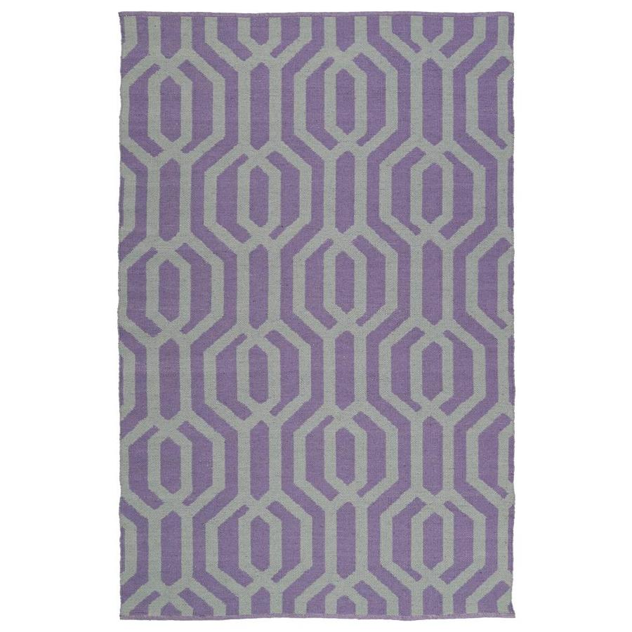 Kaleen Brisa Lilac Rectangular Indoor/Outdoor Handcrafted Coastal Throw Rug (Common: 3 x 5; Actual: 3-ft W x 5-ft L)