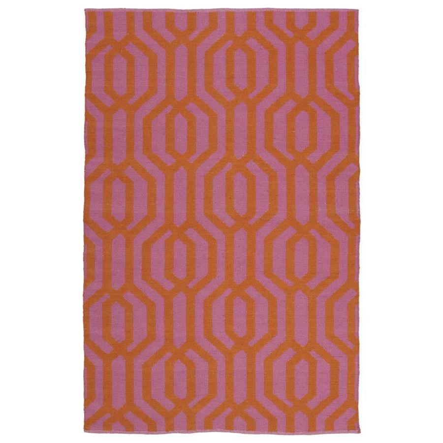 Kaleen Brisa Pink Rectangular Indoor/Outdoor Handcrafted Coastal Throw Rug (Common: 2 x 3; Actual: 2-ft W x 3-ft L)