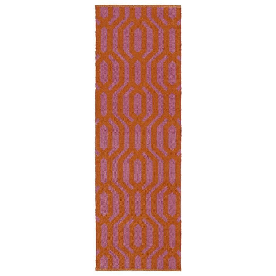 Kaleen Brisa Pink Rectangular Indoor/Outdoor Handcrafted Coastal Runner (Common: 2 x 6; Actual: 2-ft W x 6-ft L)