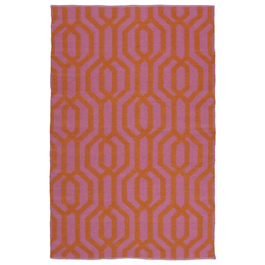 Kaleen Brisa Pink Indoor/Outdoor Handcrafted Coastal Throw Rug (Common: 3 x 5; Actual: 3-ft W x 5-ft L)
