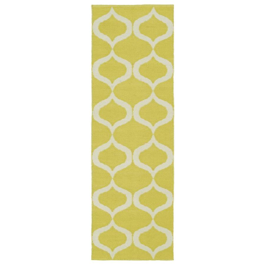 Kaleen Brisa Yellow Rectangular Indoor/Outdoor Handcrafted Coastal Runner (Common: 2 x 6; Actual: 2-ft W x 6-ft L)
