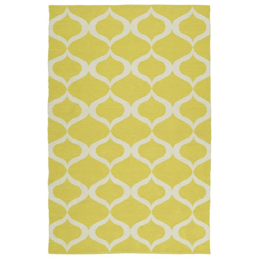 Kaleen Brisa Yellow Indoor/Outdoor Handcrafted Coastal Area Rug (Common: 8 x 10; Actual: 8-ft W x 10-ft L)