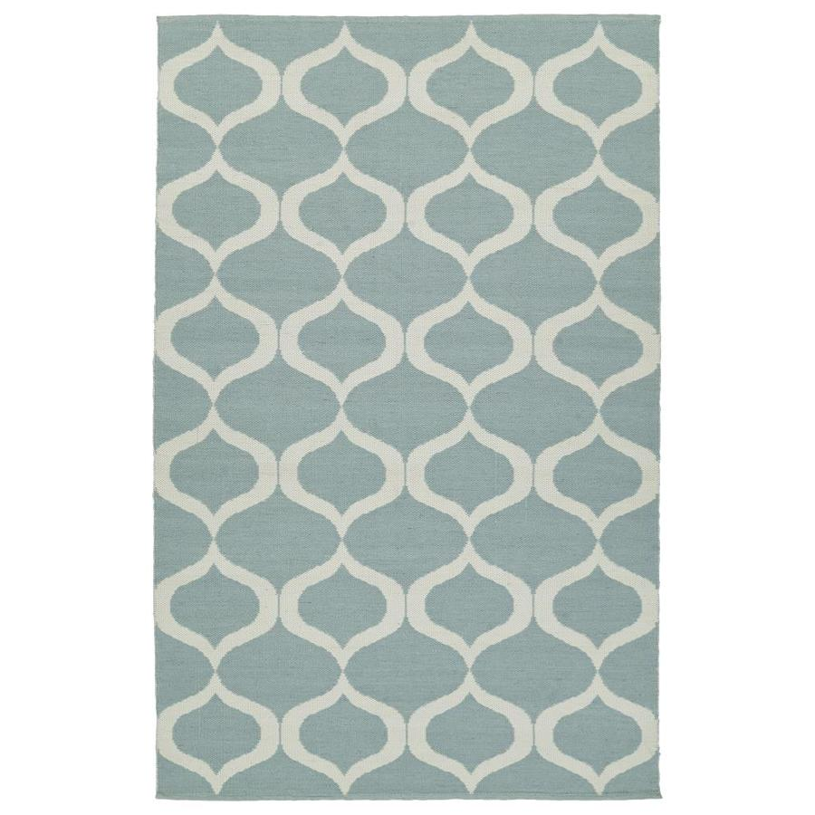 Kaleen Brisa Mint Rectangular Indoor/Outdoor Handcrafted Coastal Area Rug (Common: 8 x 10; Actual: 8-ft W x 10-ft L)