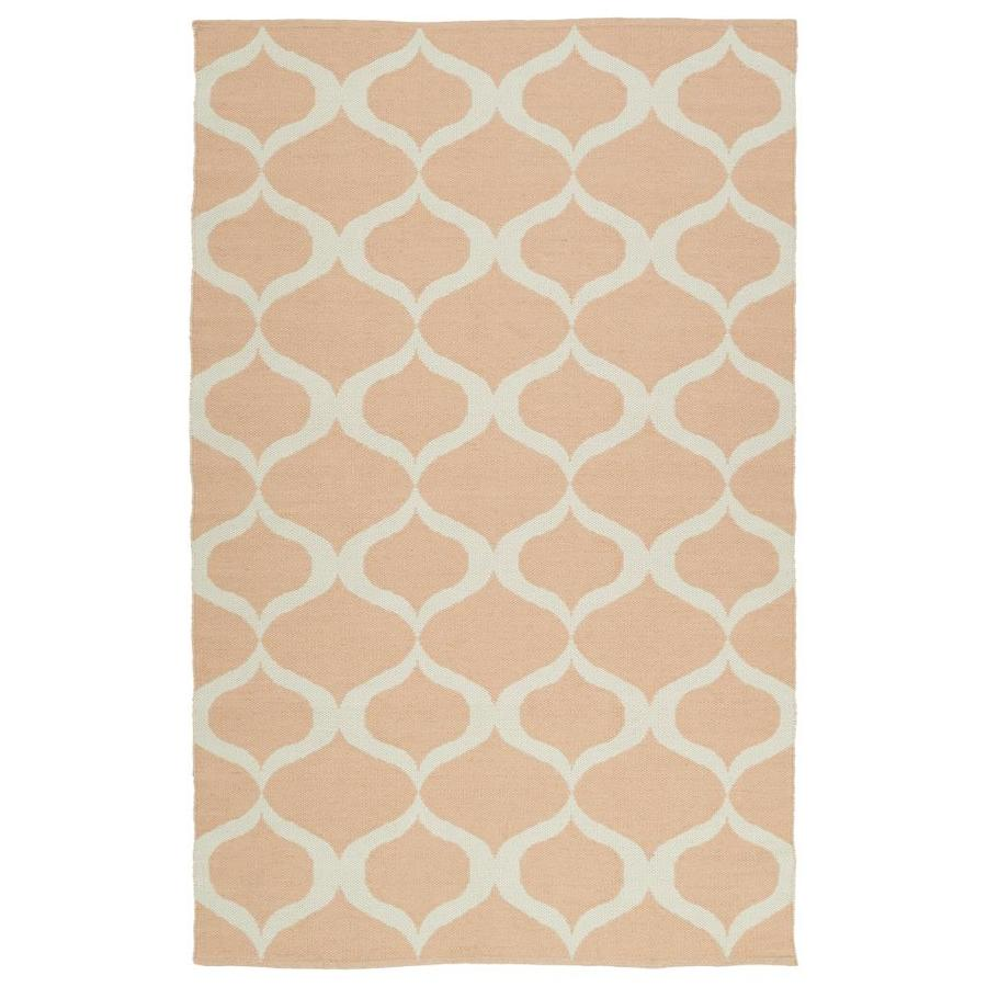 Kaleen Brisa Pink Rectangular Indoor/Outdoor Handcrafted Coastal Area Rug (Common: 5 x 8; Actual: 5-ft W x 7.5-ft L)