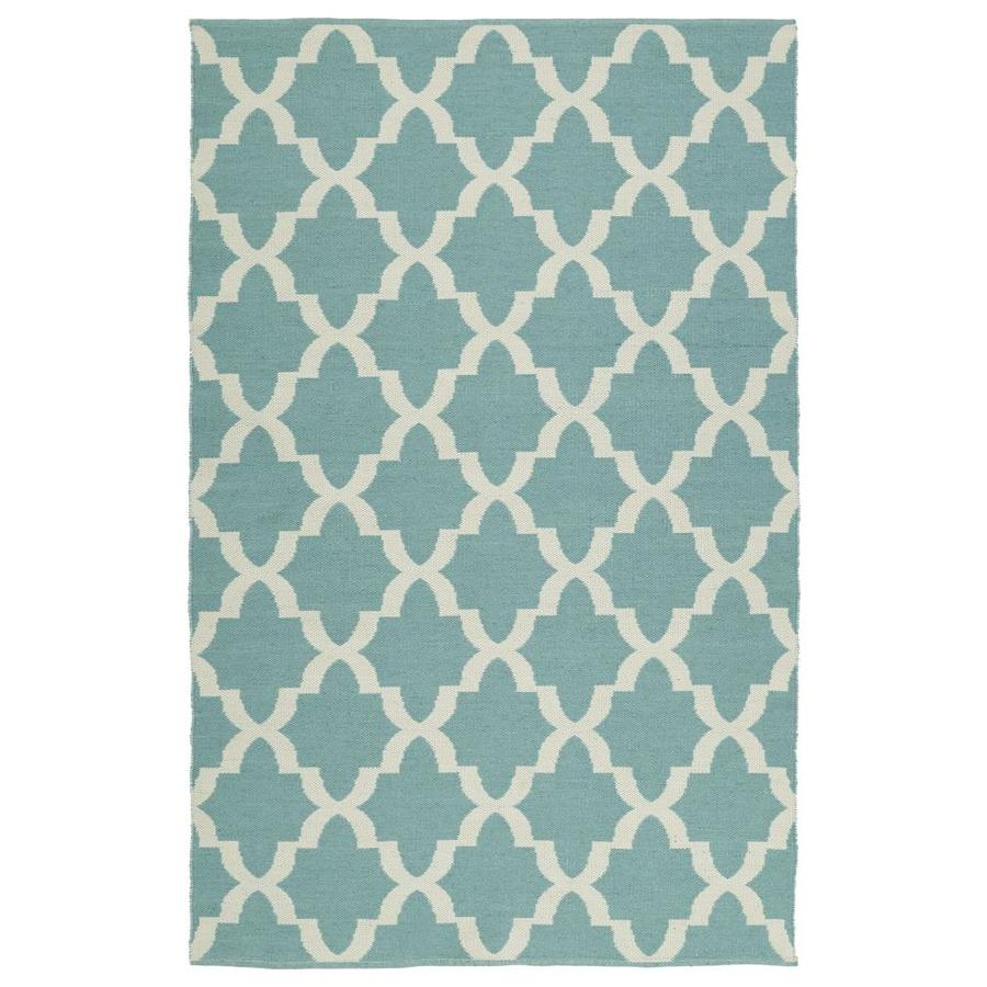 Kaleen Brisa Seafoam Rectangular Indoor/Outdoor Handcrafted Coastal Throw Rug (Common: 3 x 5; Actual: 3-ft W x 5-ft L)