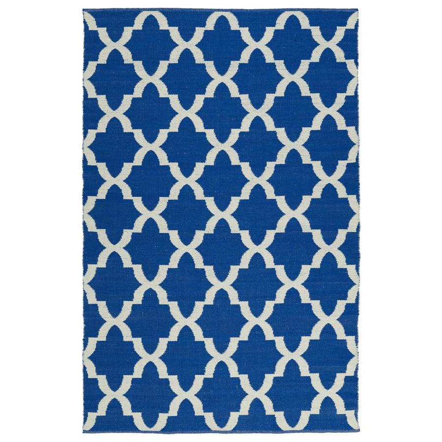 Kaleen Brisa Navy Rectangular Indoor/Outdoor Handcrafted Coastal Throw Rug (Common: 2 x 3; Actual: 2-ft W x 3-ft L)