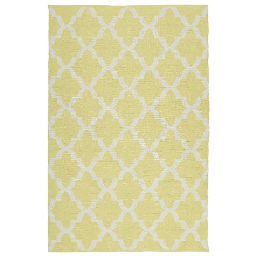 Kaleen Brisa Yellow Rectangular Indoor/Outdoor Handcrafted Coastal Area Rug (Common: 8 x 10; Actual: 8-ft W x 10-ft L)