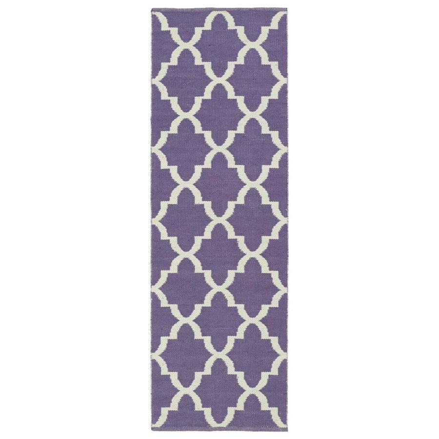 Kaleen Brisa Lilac Rectangular Indoor/Outdoor Handcrafted Coastal Runner (Common: 2 x 6; Actual: 2-ft W x 6-ft L)