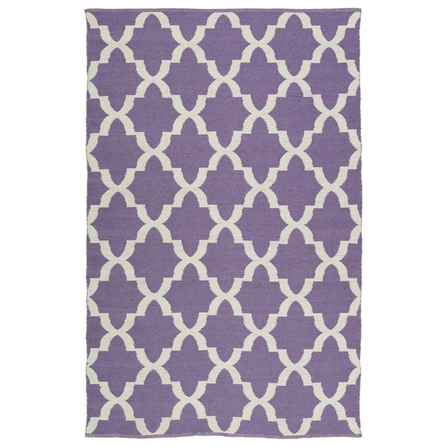 Kaleen Brisa Lilac Indoor/Outdoor Handcrafted Coastal Area Rug (Common: 8 x 10; Actual: 8-ft W x 10-ft L)