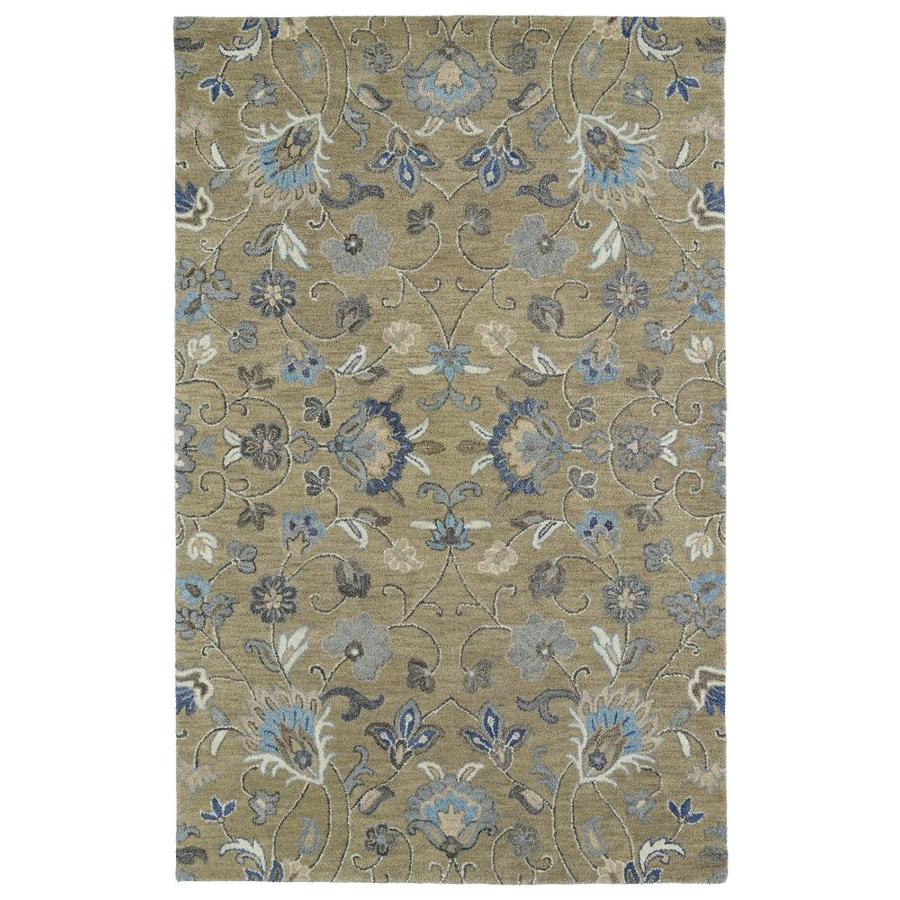 Kaleen Helena Light Brown Rectangular Indoor Handcrafted Oriental Area Rug (Common: 4 x 6; Actual: 4-ft W x 6-ft L)