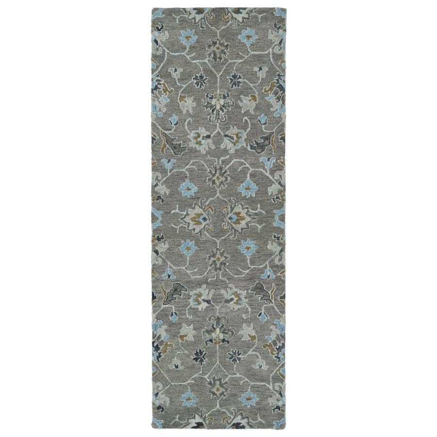 Kaleen Helena Turquoise Area Rug Reviews: Kaleen Helena Grey Indoor Handcrafted Oriental Runner